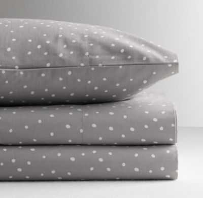 Dotted percale crib fitted sheet - RH Baby & Child