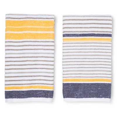 "Room Essentialsâ""¢ Stripe Terry Kitchen Towel  (2 Pack) - Target"