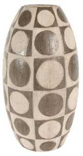 "14"" Mods Dot Vase, Neutral - One Kings Lane"