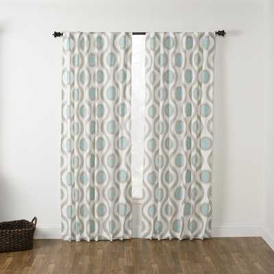 "Viola Seafoam Rod Pocket Curtain Panel - 108""L - Overstock"