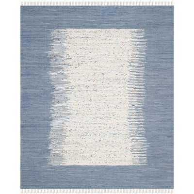 Montauk Ivory & Dark Blue Contemporary Area Rug - Wayfair