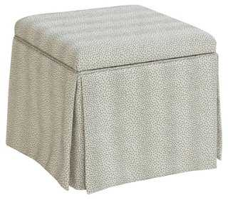Anne Skirted Storage Ottoman - One Kings Lane