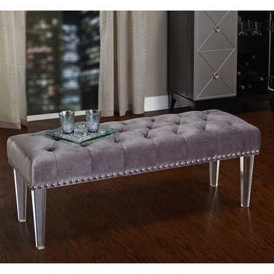 Simple Living Leona Bench with Acrylic Legs - Overstock