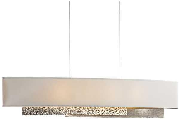 Hubbardton Forge Oceanus Wide LED Gold Linear Pendant - Lamps Plus