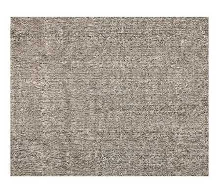 Chunky Wool & Jute Rug - Gray - 8' x 10' - Pottery Barn