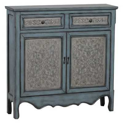 Powell Antique Blue & White Console Table - Target
