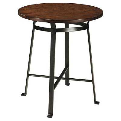 Challiman Round Dining Room Counter Table - Rustic Brown - Signature Design by Ashley - Target