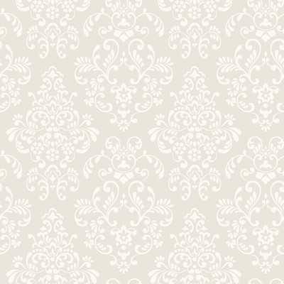 "Peek-A-Boo Delicate Document 33' x 20.5"" Damask Wallpaper - Wayfair"