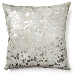 Splash Cowhide Pillow - 20 x 20 - One Kings Lane