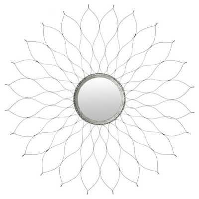 Flower Silver Mirror - Overstock