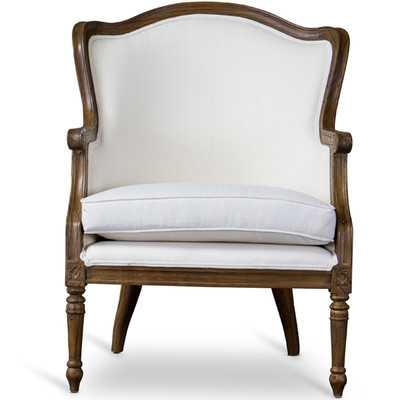 Baxton Studio Charlemagne Traditional French Arm Chair - Wayfair