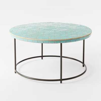 Mosaic Coffee Table - Blue Spider Web - West Elm
