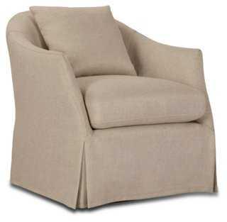 Amber Slipcover Swivel Chair - One Kings Lane
