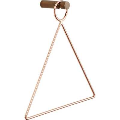 Copper accessory-towel holder - CB2