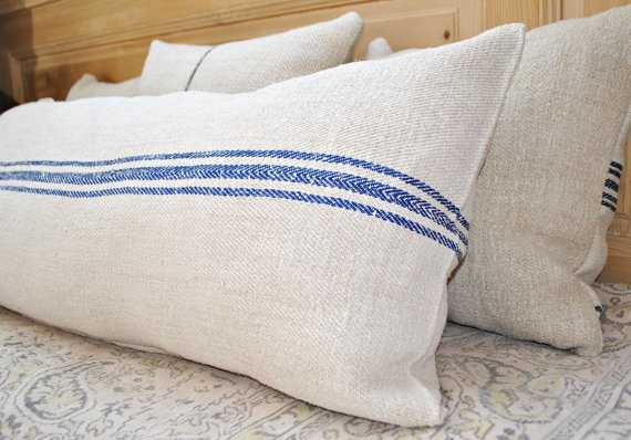 Authentic Grain Sack Body Pillow - Etsy