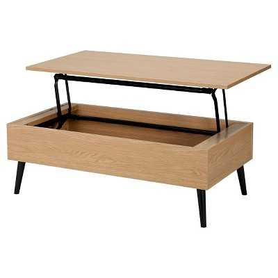 Christopher Knight Home Elliot Wood Lift-Top Storage Coffee Table - Target