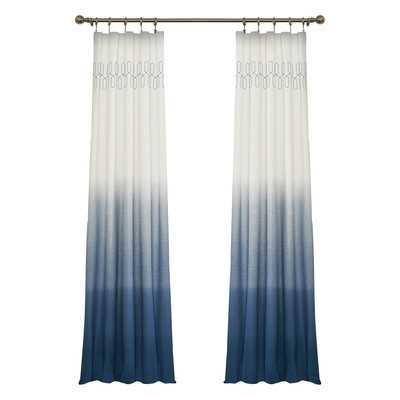 "Arashi Single Curtain Panel - Indigo, 96"" - Wayfair"