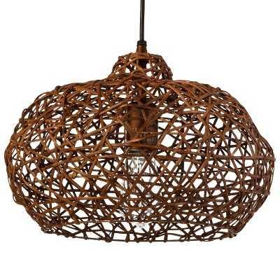 Rattan Pendant (Includes CFL Bulb) - Target