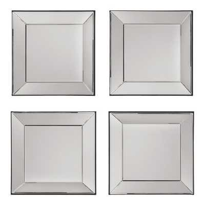 Decorative Square Wall Mirrors (Set of 4) - Overstock