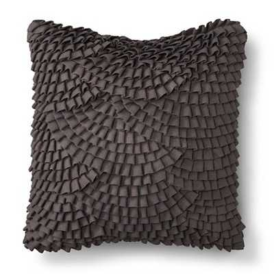 Pleated Scallop Decorative Pillow - Grey - 18.000L x 18.000W, Polyester fill - Target