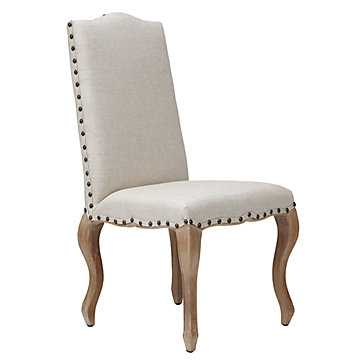 Florette Side Chair - Natural w/Washed Oak Leg - Z Gallerie