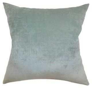 Vince 18x18 Pillow, Aqua - One Kings Lane