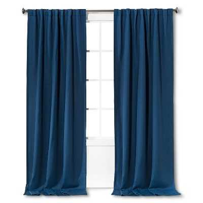 "Light Blocking Basketweave Curtain Panel - 54""W x 84""L - Target"