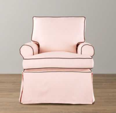Roll arm swivel glider with slipcover - RH Baby & Child