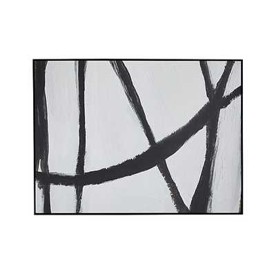 """Woven Print-58""""W x 1.25""""D x 43""""H-Framed - Crate and Barrel"""