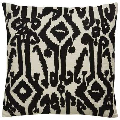 Tribal Pattern Ivory/Black Cotton Poly Fill Pillow - 18'' - Overstock