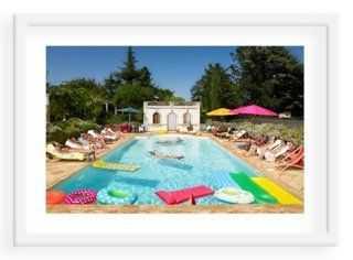 """David de Lossy, Pool in Bordeaux, France - 40"""" x 28""""- Framed - One Kings Lane"""