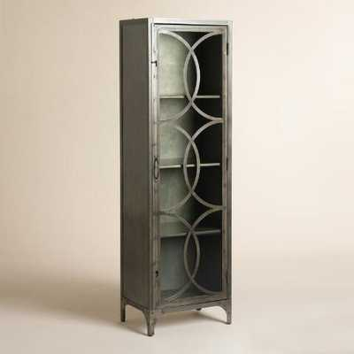 Metal and Glass Half Circle Eriksen Curio Cabinet - World Market/Cost Plus