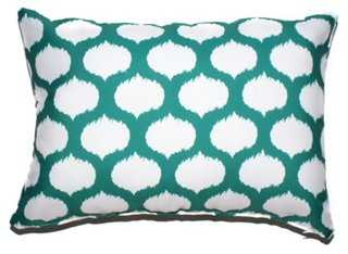 Ikat Circles Pillow - 14x20 - With Insert - One Kings Lane