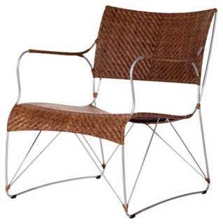 Seto Club Chair, Pecan - One Kings Lane