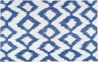 Kendall Flat-Weave Rug, Navy - One Kings Lane