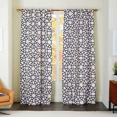 Star Flocked Curtain - West Elm