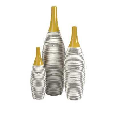 Andean Multi 3 Piece Glaze Vase Set - AllModern