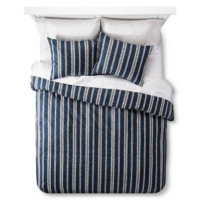 Edison Duvet and Sham Set - Navy, Queen - Target