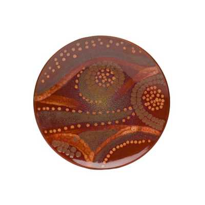 Red Vanilla Organic Brown 2-piece Charger Plate Set - Overstock