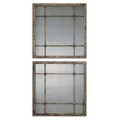 Saragano Square Wall Mirror - Wayfair