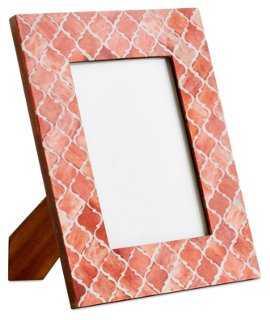 Morrocan Tile Frame, Coral - One Kings Lane