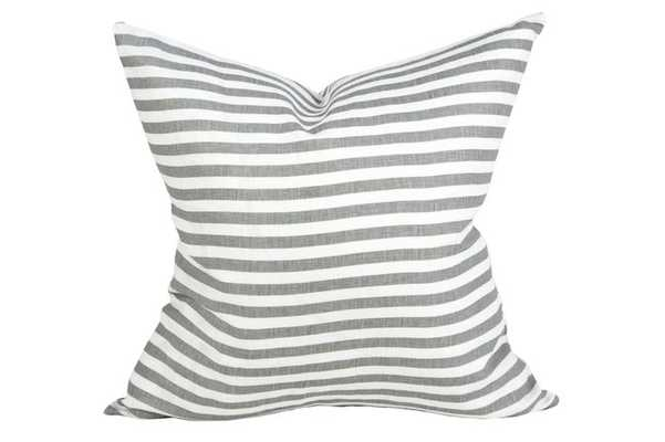 PERFECT STRIPE PILLOW - Grey - 26x26 - No Insert - McGee & Co.