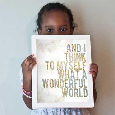 Wonderful World print - 8x10 - Unframed - Etsy
