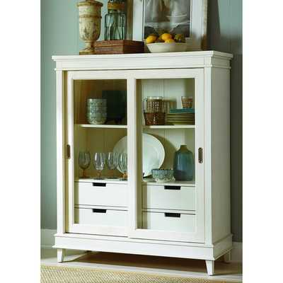 Summerhill Rubbed Linen White Display Cabinet - Overstock