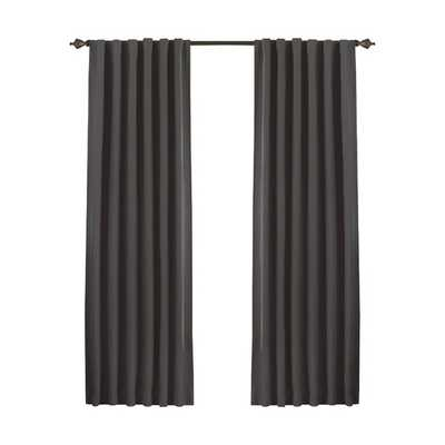 Fresno Single Curtain Panel - Charcoal , 52x95 - AllModern