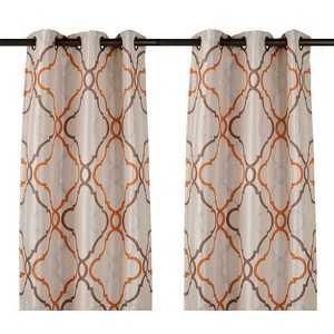 Grand Manor Spice Curtain Panel Set, 96 in - kirklands.com