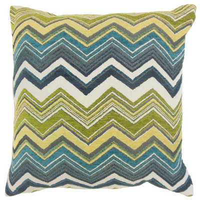 Hateya Zigzag Down and Feather Filled 18-inch Throw Pillow - Overstock