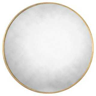 Canton Round Wall Mirror, Gold - One Kings Lane