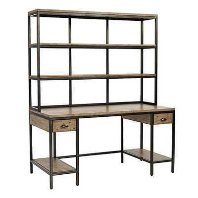 Durham Large Desk with Drawers & Hutch - Ballard Designs