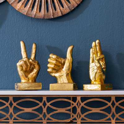 3-Piece Hand Decor Set - Wayfair